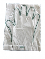 Apparecchiatura per la produzione di GUANTI palmati monouso a 5 dita in mazzette